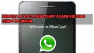 Serviço de Voz do WhatsApp é Cada Vez Mais Usado no Brasil